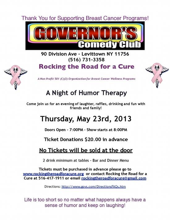 Comedy Night, Thursday, May 23rd, 2013