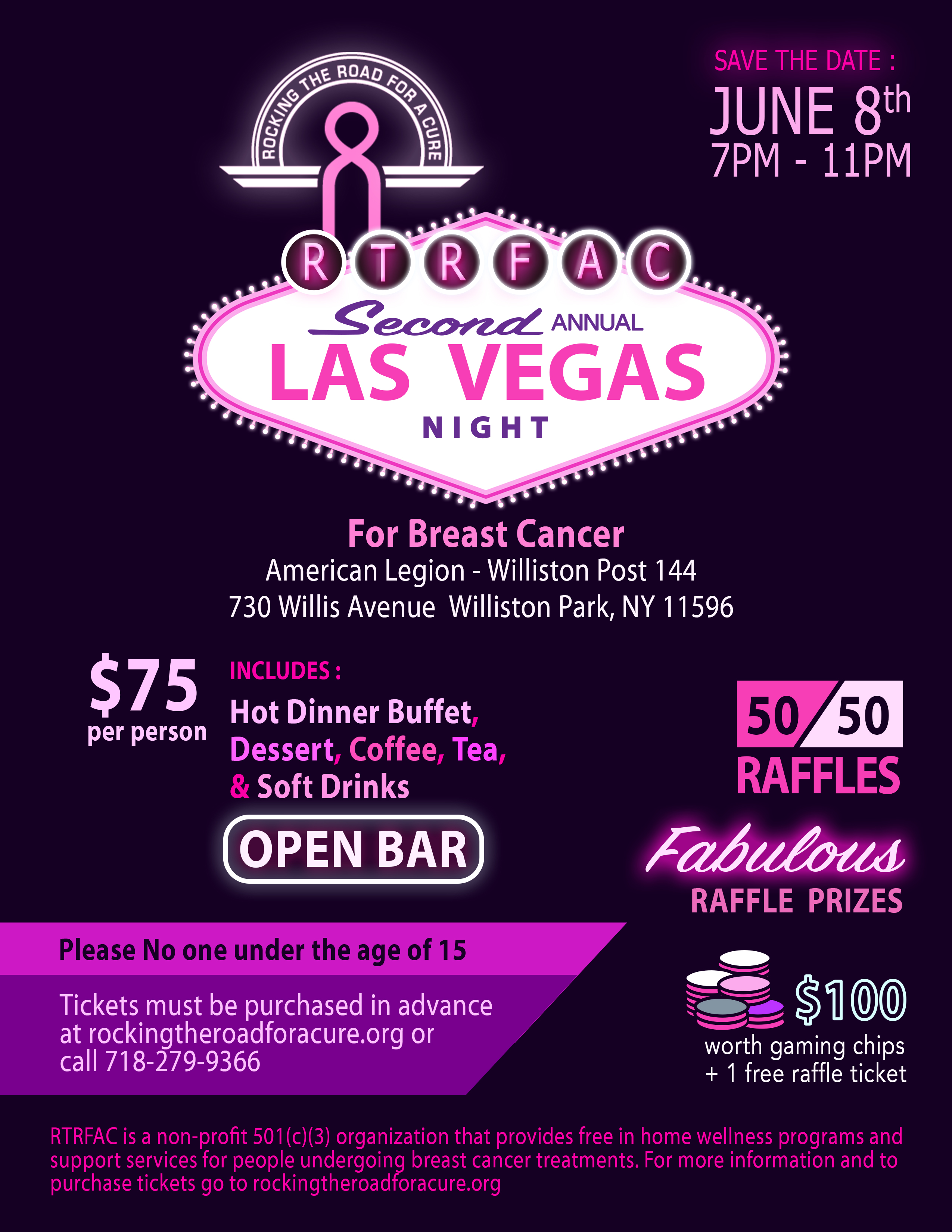 Las Vegas Night for Breast Cancer - 8 June 2018 - Long Island