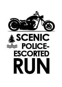 Police Escorted Run Graphic